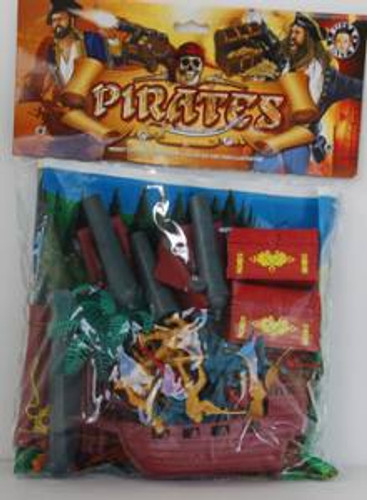 Billy V 43010 Large Pirate Set w/Playmat Ship Treasure Chest