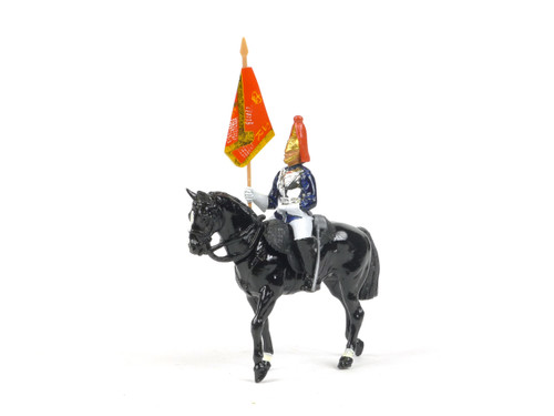 Britains Metal Models 7245 Blues And Royals Standard Bearer Mounted