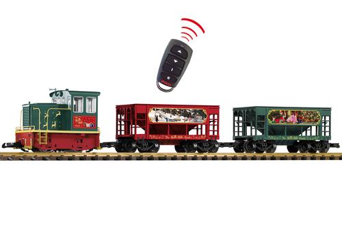Piko 38152 North Pole Hauler GE 25-Ton Starter Set G Scale Trains