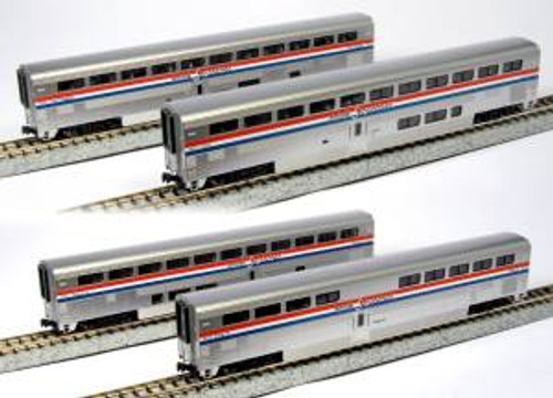 Kato 1063517 N Amtrak PhIII Superliner Set A 4 pack