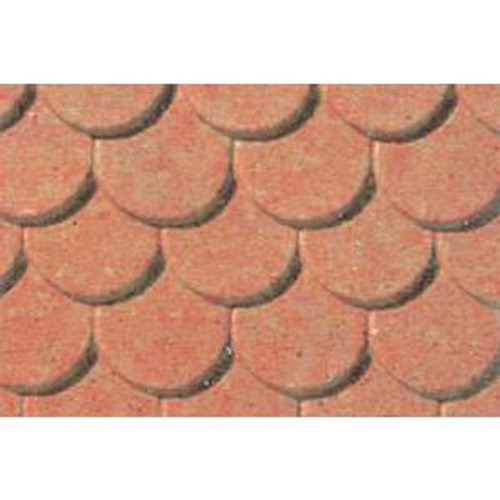 JTT 97438 Pattern Sheets/Scalloped Edge Tile O (1:48) 2 pack