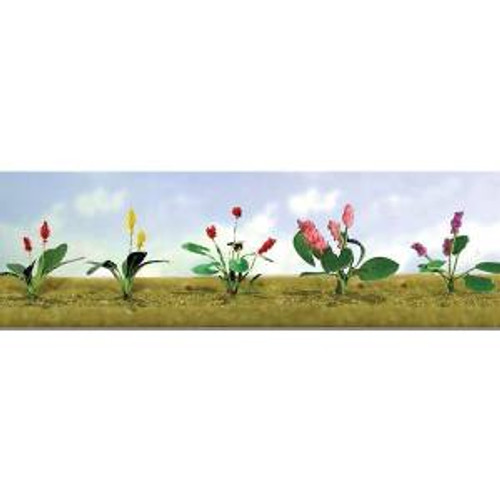 JTT Scenery Products 95562 O Flower Plants Assortment #3 10 pack