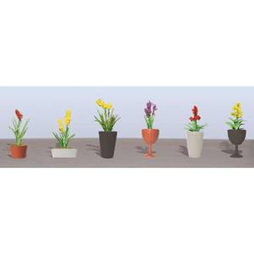 JTT Scenery Products 95568 O Flower Plants Potted Assortment #2 6 pack
