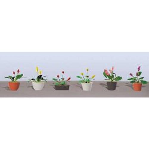 JTT 95569 HO Flower Plants Potted Assortment #3 6 pack