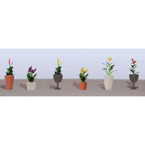 JTT Scenery Products 95572 O Flower Plants Potted Assortment #46 pack