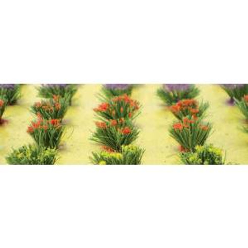 JTT Scenery Products 95581HO Detachable Flower Bushes 30 pack