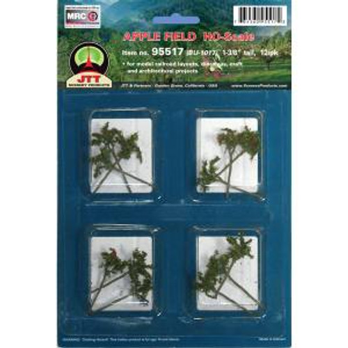 JTT Scenery Products 95517 HO Apple Saplings 1-3/8'' 12 pack