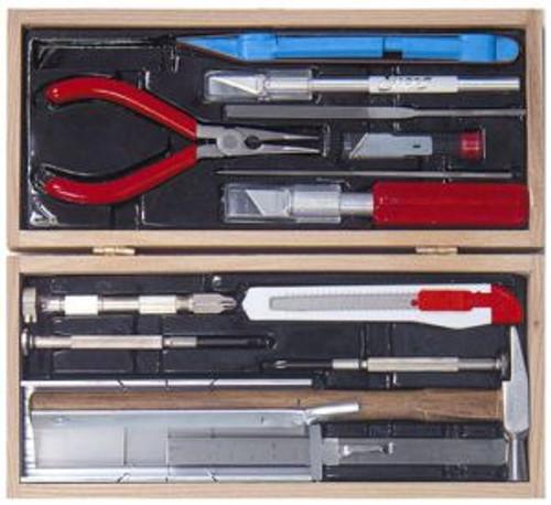 Excel Hobby 44289 Model Railroad Tool Set Wooden Box