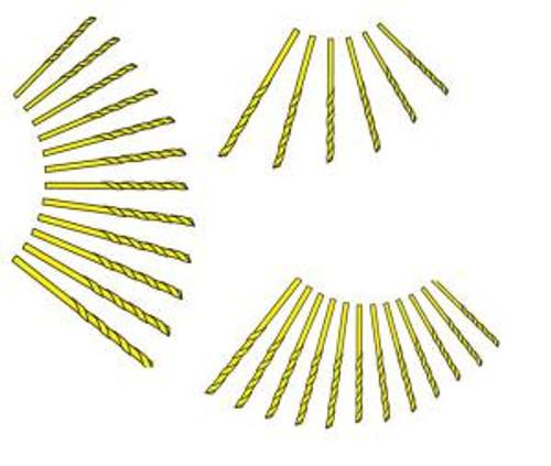 Excel Hobby 50057 #57 Twist Drill 12 piece