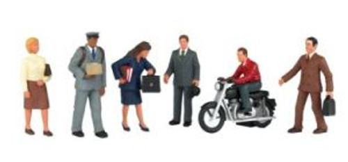 Bachmann 33151 O City People w/Motorcycle 6 piece
