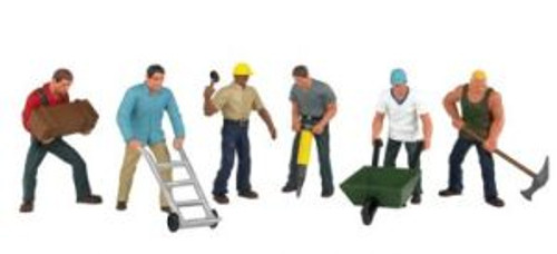 Bachmann 33155 O Construction Workers 6 piece