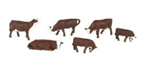 Bachmann 33152 O Cows brown &white 6 piece