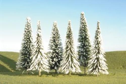 Bachmann 32002 Pine Trees w/Snow 5-6 6 piece