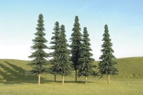 Bachmann 32004 Spruce Trees 5-6 6 piece