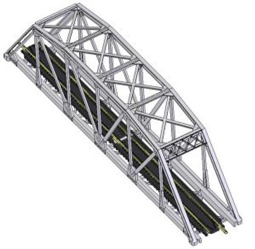Atlas 2570 N Code 80 Through Truss Bridge Kit black