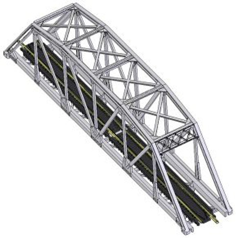Atlas 2571 N Code 80 Through Truss Bridge Kit silver