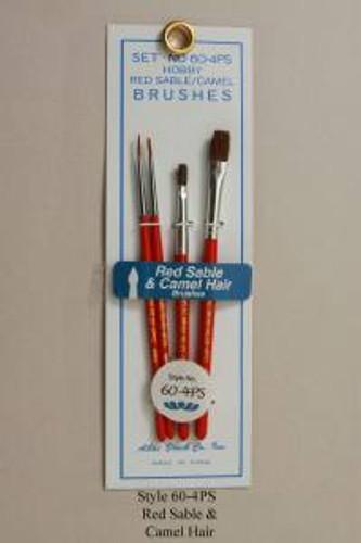Atlas Brush 604PS 4pc Round & Flats Sable Brush Set