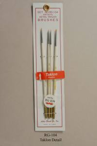 Atlas Brush RG104 4pc Taklon Spotter Detail Brush Set