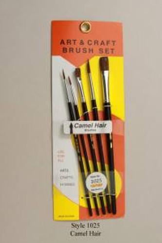 Atlas 1025 5pc Camel Hair Round & Flat Brush Set