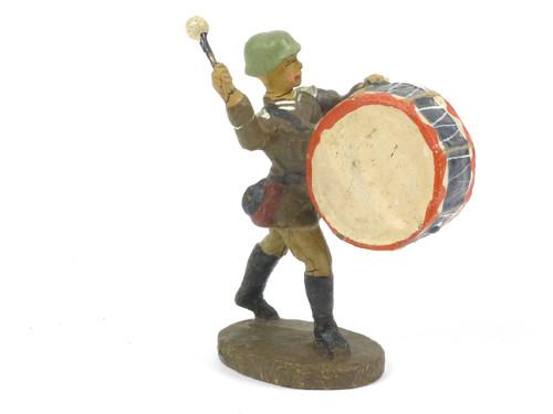 Elastolin German Bass Drum Composition Toy Soldier