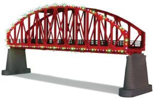MTH 40-1115 O Steel Arch Bridge w/Operating Christmas Lights