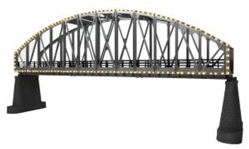 MTH 40-1117 O Steel Arch Bridge w/Operating White Lights
