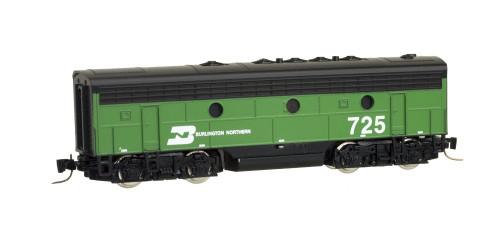 Micro-Trains Line Z Scale Burlington Northern F7 B Powered Diesel Locomotive 725