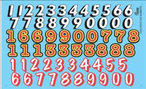 Gofer 11005 1/25 Race Car Numbers Decal