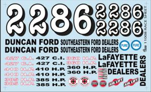 Gofer 11008 1/25 Race Sheet Decal