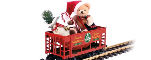 Piko America 37813 Hermann Christmas Bear Car G Scale