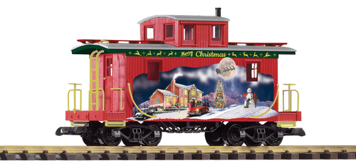 Piko America 38897 Christmas Wood Caboose G Scale
