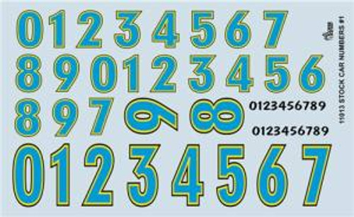 Gofer 11013 1/25 Stock Car Numbers #1 Decal