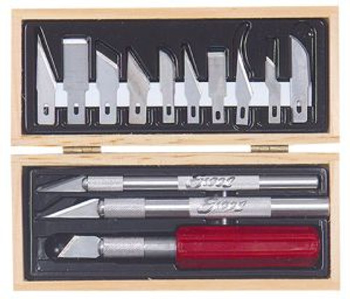 Excel Hobby 44382 Hobby Knife Set - Wooden Box Carded