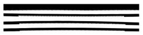 Excel Hobby 20570 Coping Saw Blades 4 piece Asst.