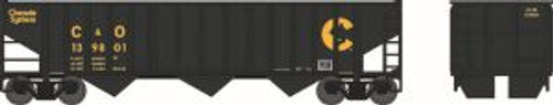 Bowser Trains 41806 HO Scale 70t 3-Bay 14-Panel Hopper Chessie C&O #139801