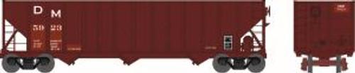 Bowser Trains 41710 HO Scale 100t 3-Bay Hopper D&M #5923 red