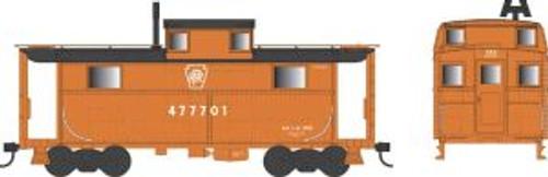 Bowser Trains 37912 N Scale N5 Caboose PRR Keystone Focal Orange #477701