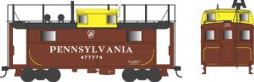 Bowser Trains 37914 N Scale N5 Caboose PRR Yellow Cupola w/Trainphone #477774