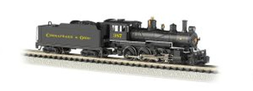Bachmann Trains 51460 N Scale 4-6-0 Steam Loco C&O #387 DCC
