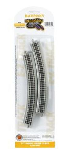 Bachmann Trains 44853 N Scale EZ Track 14'' R 6 pack