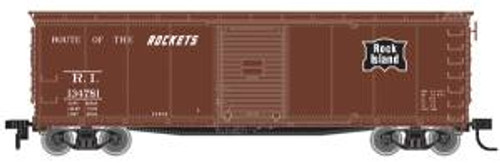 Atlas Trains 64221 HO Scale USRA Steel Rebuilt Boxcar RI #134710 brown