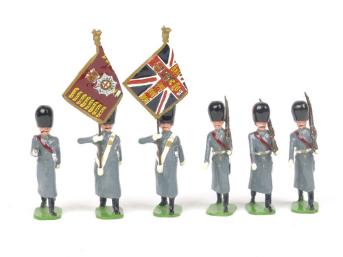 Ducal Military Figures Set 138 Coldstream Guards in Greatcoats Colour Party