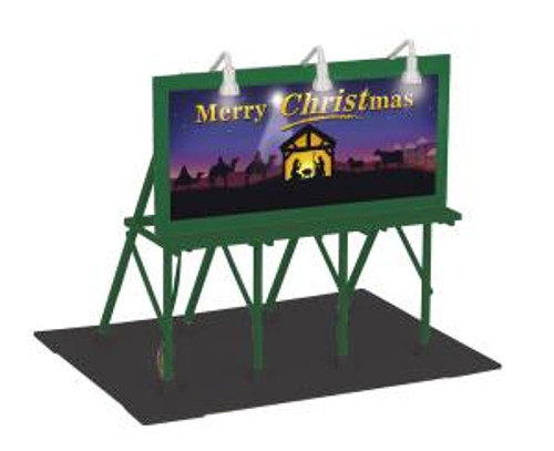 MTH Trains 30-90585 O Scale Christmas Lighted Billboard