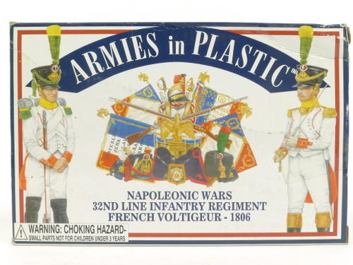 Armies in Plastic 5454 32 Line Infantry French Voltigeur Napoleonic Wars
