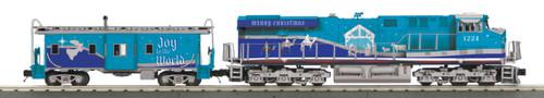 MTH RailKing 30-20641-1 Christmas ES44AC Imperial Diesel Engine & Caboose Set O Gauge