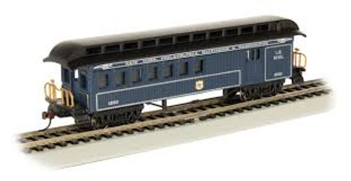 Bachmann Trains 15205 HO Scale Old-Time Combine B&O Royal Blue