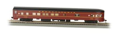 Bachmann Trains 14301 HO Scale 85' Smoothside Observation PRR w/Light