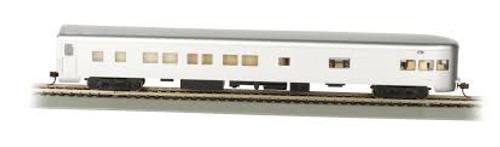 Bachmann Trains 14308 HO Scale 85' Smoothside Observation Unlttrd. Aluminum w/Light