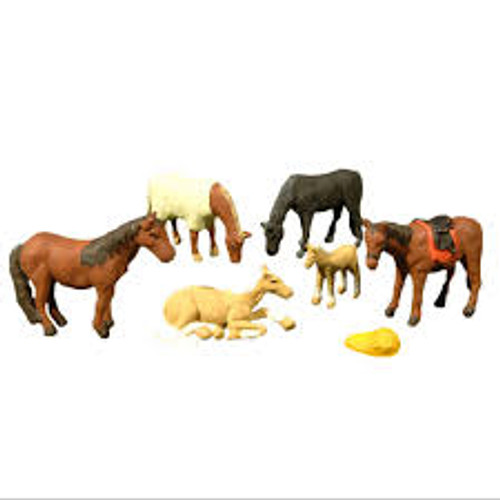 Bachmann Trains 33119 HO Scale Horses 6 piece