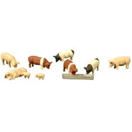 Bachmann Trains 33118 HO Scale Pigs 9 piece